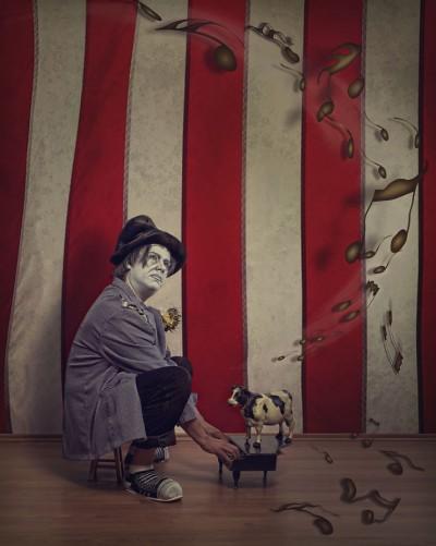 The piano clown