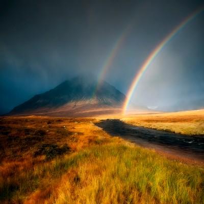 Rainbow, Rannoch moor...