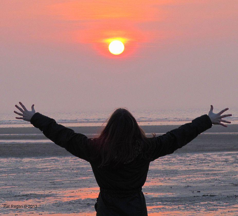 Pagan sundown over the Irish Sea...