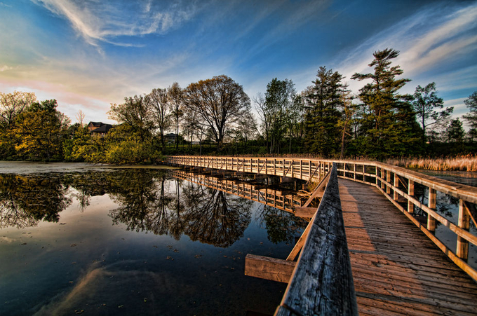 Sunset at Mill Pond by LynnsPhoto - Boardwalks Photo Contest