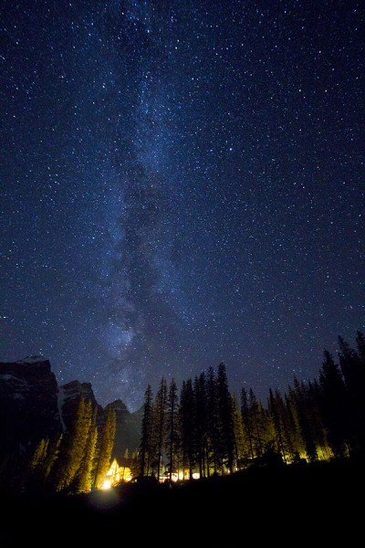 Milky Way Over Moraine