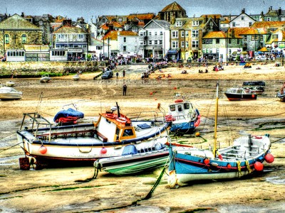 Boats in St. Ives harbour