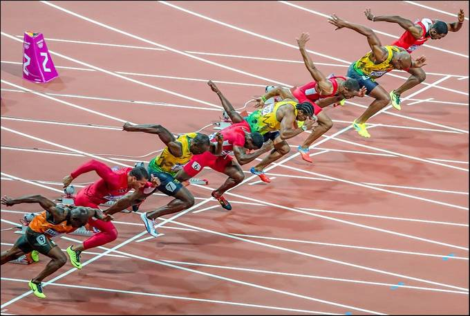 London Olympics 2012 - Mens 100m Final by NickMoulds - Running Photo Contest