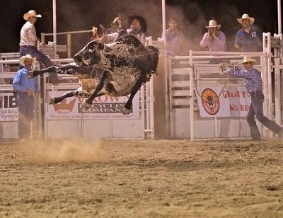 Sideway flying bull