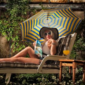 Sunbathing by the pool?