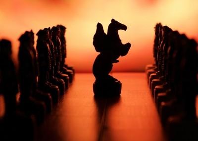 Silhouette Chess board