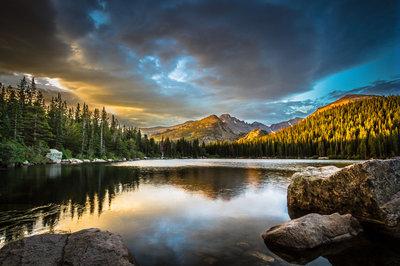 Dawn at Bear Lake