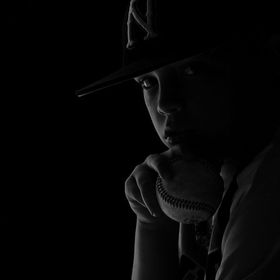 Dramatic Portrait of a young baseball player