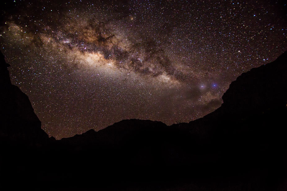 "Shot of Milky Way with ""Black Llama"" visible.  Taken along Inca Trail.  Peru"