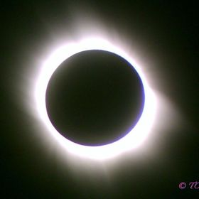 View of a total solar eclipse, the full eclipse happened  in 2006 at Side, Turkey. This image was taken with a cheap, fixed lens camera held by h...