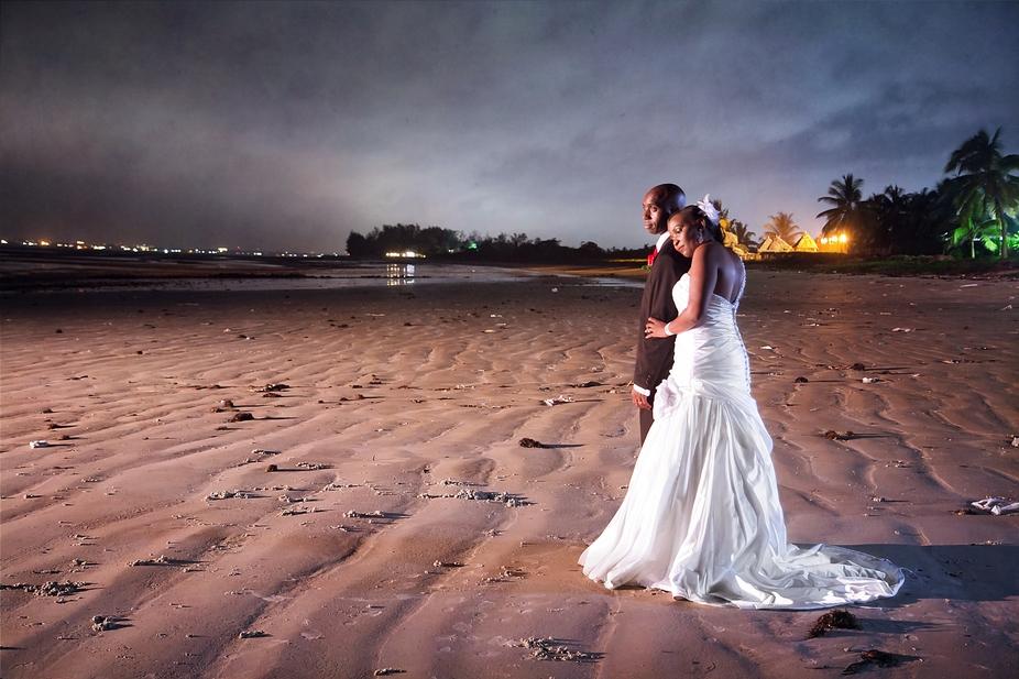 Taken around midnight after the wedding reception on the beach in Tanzania