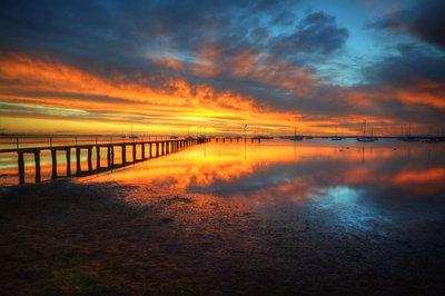 Corio Bay Sunrise HDR