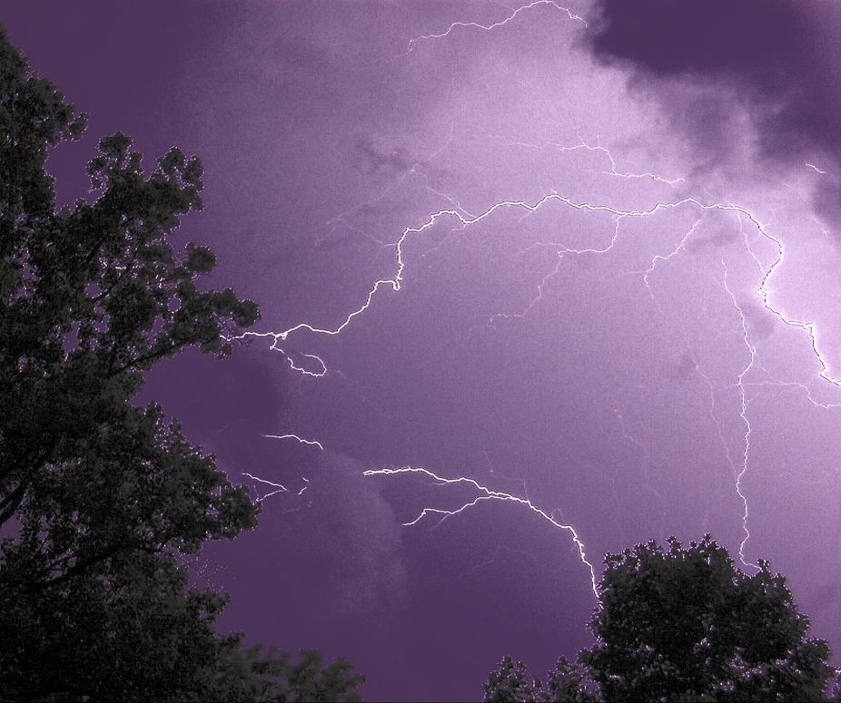 Wonderful lightning storm above my home last night.