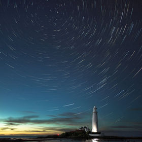 Last Man Standing (St Mary's 'Comet Like' Star Trails)