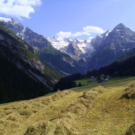 Taken along the road going to the Stelvio Pass in Italy.