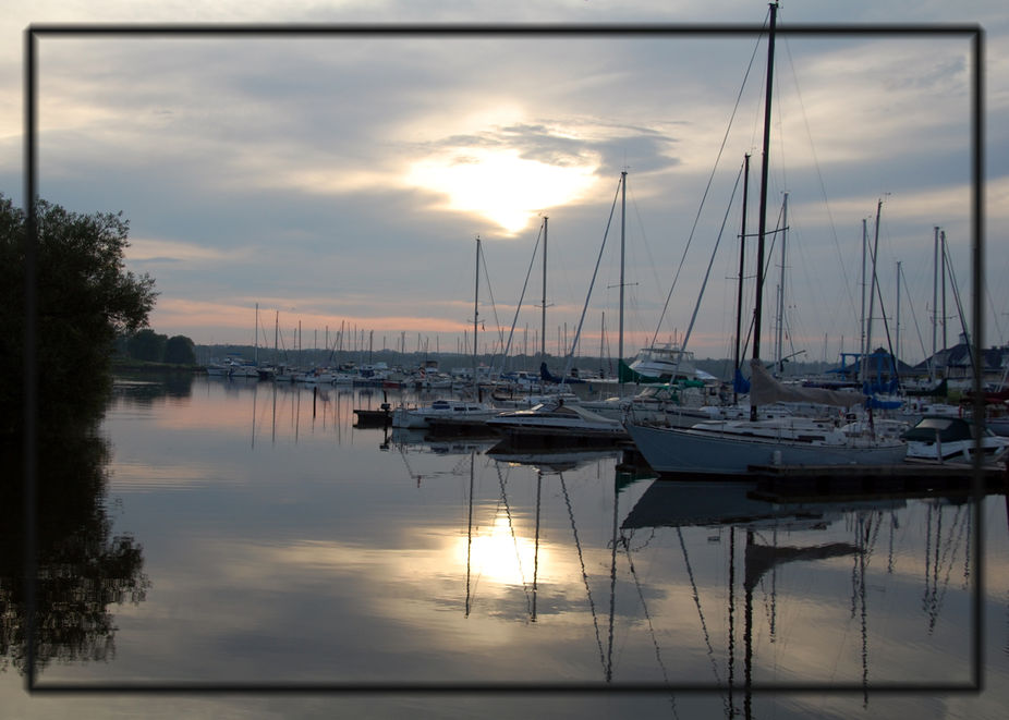 Calm Evening at the Marina, Pickering ON Lake Ontario