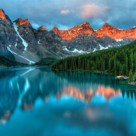 One of the most beautiful lakes in Canada, Moraine Lake.
