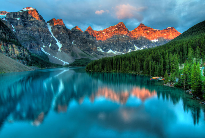 Moraine Lake Sunrise by jameswheeler - Nature In HDR Photo Contest