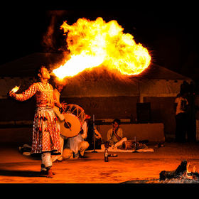 Was on a vacation in the Desert in India. Traditional dance and the fire breather. Such a beautiful country, land of diversity, such varied custo...