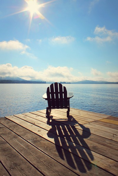 An Adirondack Chair in the Adirondack Mountains