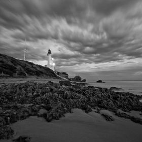 Taken at Point Lonsdale, Geelong, Victoria, Australia, black and white