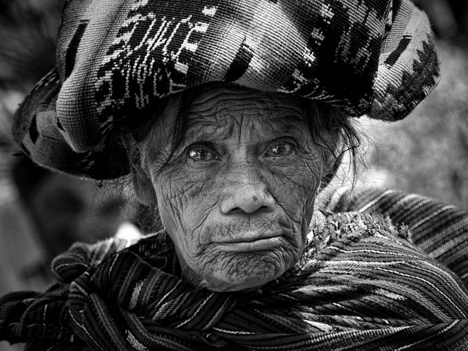 Old Woman of Chichicastenango by tombell - Street Portraits Photo Contest