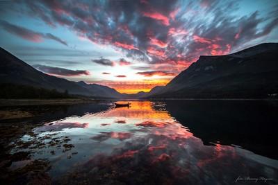Sunset in Sørfjorden