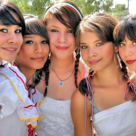 Five Nice Mexican Teens in the city of Juarez Chihuahua, Mexico.