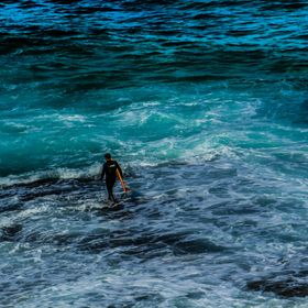 This is a shot I took of a surfer while I was at Sculpture By The Sea at Bondi in 2012