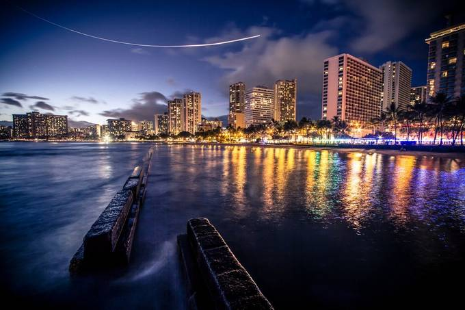Waikiki Night by ChristopherLH - City Views Photo Contest