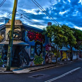 This is a shot I took in HDR in Newtown. The blurry man, walked into one of my shots and when I merged them, that mans presents, adds a lot more ...