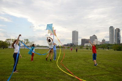 Releasing the Kite in Milwaukee