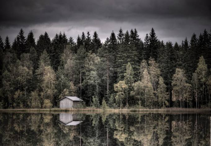 Forest lake by olljohan - Isolated Cabins Photo Contest