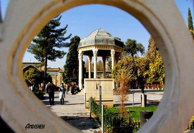 Hafez tomb in Iran  ( famous and old place )