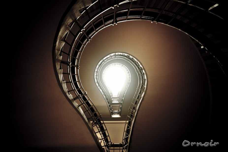 stairway looking as a bulb