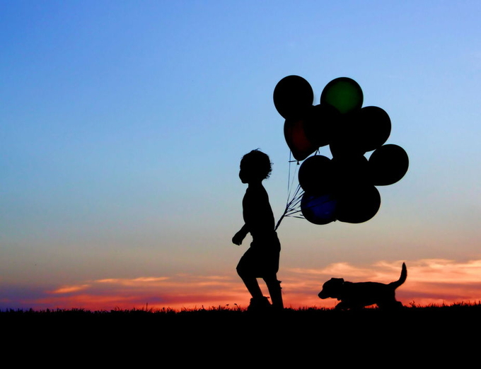 A Boy and his Dog by jodiandersonhattery - Show Balloons Photo Contest