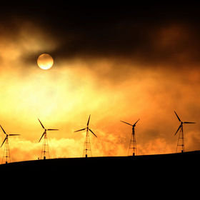 Power Generating Windmills with the background of the all Powerful Sun !   ©2013 Sachin Deshpande photography. Images may not be copied, printed...