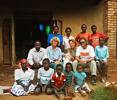 Family Picture in Uganda - a scanned film print