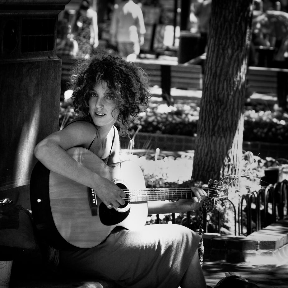 A busker in Boulder, CO.