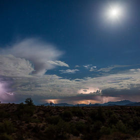 7 Image stack of storm that rolled into Mesa,AZ 8-17-13