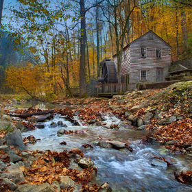 mill at Norris Dam State Park, Tennessee in fall