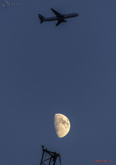 Footie and the moon