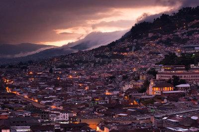 Quito at dusk