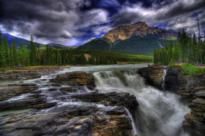 Athabasca falls by mattspeight - Nature In HDR Photo Contest