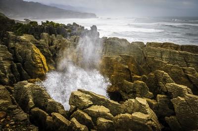 Punakaiki - Pancake Rocks Blowhole