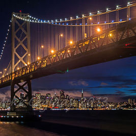 If you're going to hike to this location, it's a waste to leave after dark without getting nighttime shots.  This was taken from Yerba Buena Isla...