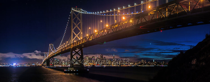 Skyline Under: After Dark by MikeCeglady - Spectacular Bridges Photo Contest