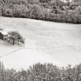 Snowfall in the mountains of verona lessinia, evocative cover white