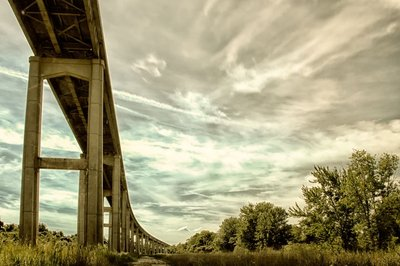 Reedy Point Bridge against Sky