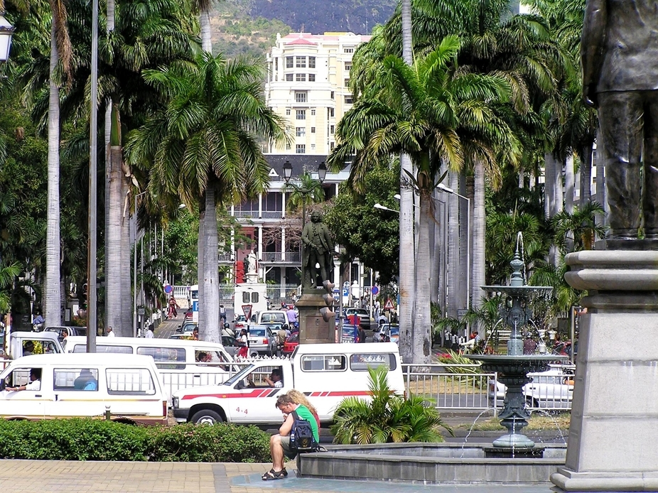 Place D'armes, in  the city of Port Louis,  Mauritius